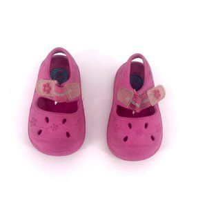 Girls Water Shoes Pink Velcro Fastening Size 3